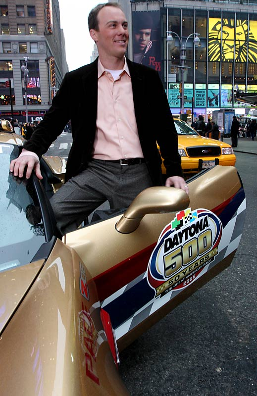 Defending Daytona 500 champion Kevin Harvick came to New York to kickoff the celebration of the 50th anniversary of the Daytona 500 -- but it doesn't look like many New Yorkers really cared.