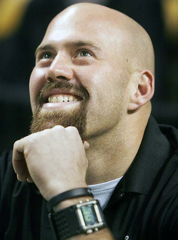 Kevin Youkilis really enjoyed seeing himself on the Jumbotron at Sunday's Spurs-Celtics game.