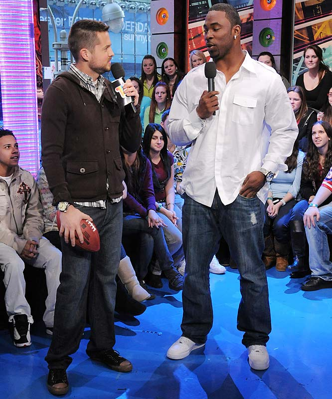 "Justin Tuck is enjoying the post-Super Bowl life, as well, but instead of going to Hawaii, he went to ""TRL."""