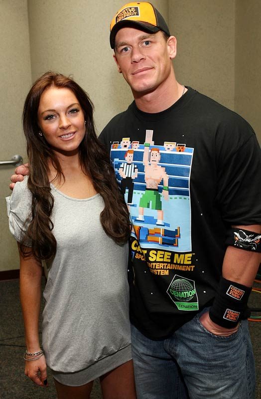 "You probably want to see the other Linsday Lohan pics that came out this week, but the best we can do is give you ""Mean Girls"" star with the WWE's John Cena from this past week's ""Monday Night Raw."""