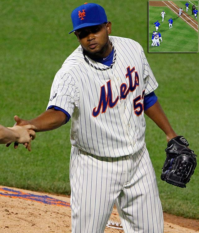 Johan Santana's no-hitter came at a cost to the New York Mets. While injured outfielder Mike Baxter is expected to miss about six weeks after crashing into the fence while making an outstanding catch to preserve Santana's no-hitter against St. Louis, reliever Ramon Ramirez is likely headed to the disabled list as well after straining his right hamstring during the postgame celebration. Ramirez was injured running onto the field with teammates to mob Santana after he finished the first no-hitter in Mets history.