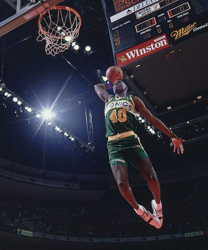Kemp entered the NBA in 1990 as the league's youngest player and quickly captured the imagination of Seattle fans with his exciting style of play and violent dunks. The Reign Man famously battled weight problems during the latter stages of his 14-year career, but few stars burned brighter during their prime.