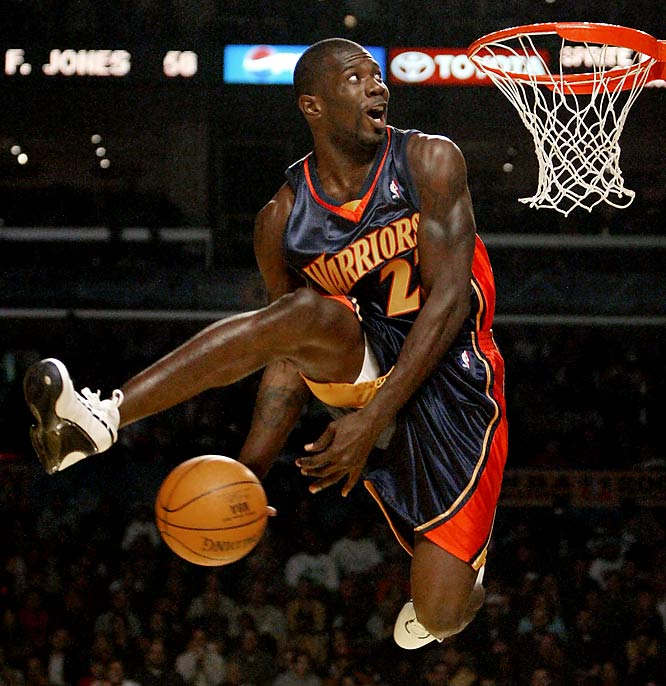 During a time when critics openly debated the relevance of the dunk contest, the dynamic Richardson breathed new life into the seemingly antiquated event. The 6-foot-6 guard won the 2002 and 2003 competitions on a series of innovative jams, becoming the fourth player to win two titles. In fact, Richardson would have become the first player to win three crowns if not for his controversial defeat at the hands of Fred Jones in 2004.