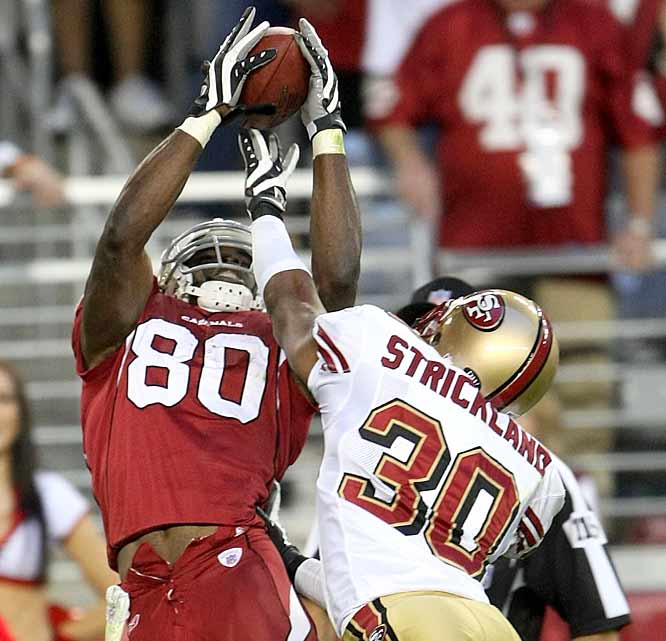 Bryant Johnson (46 catches for 528 yards and 2 TDs last year) was an invaluable asset for the Cards in '07, easily handling the No. 2 WR duties while Anquan Boldin and Larry Fitzgerald each missed extensive time to injury. <br><br>And now, the 6-foot-3 Penn State product faces the option of either sticking with the Cards' potent attack or pursuing his dreams of becoming the No. 1 receiving option elsewhere. <br><br>Status: Johnson is reportedly in talks with the Bills.