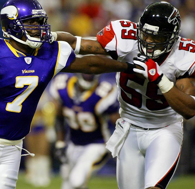 Boley, a restricted free agent, was selected by the Falcons in the fifth round of the '05 draft and became the team's starting linebacker (he had 110 tackles last season).  Atlanta will try to re-sign Boley to a long term deal.<br><br>Status: As of March 1, Boley is yet to sign a deal.