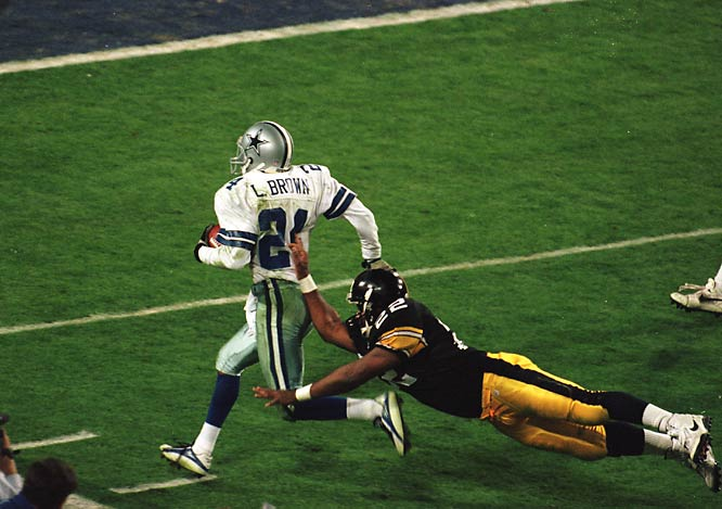 For one night, Brown outgrew his role as one of the more overlooked players on the great Dallas defenses of the 1990s. The timely playmaker intercepted a pair of Neil O'Donnell passes in the second half of Super Bowl XXX, logging 77 yards on the returns. The Cowboys would convert both giveaways into touchdowns to lock down their third championship title in four seasons. Brown secured the Super Bowl MVP trophy as a result, the pinnacle of his modest eight-year career.