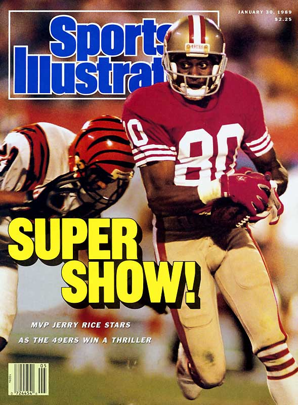 John Taylor reaped the glory with the game-winning touchdown catch -- but Rice's career outing set the stage for San Francisco's nail-biting victory. The Hall of Fame wideout set a Super Bowl standard with 215 receiving yards (on a record-tying 11 catches) as the 49ers edged the Bengals, 20-16, for their third championship in eight seasons.