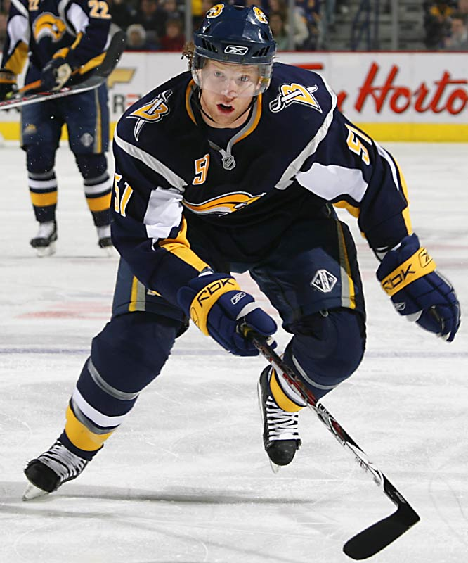 The Sabres' All-Star defenseman Brian Campbell was traded to the San Jose Sharks along with a seventh-round draft pick in exchange for right wing Steve Bernier and a first-round pick in this year's draft. The Sabres made the trade after contract talks with Campbell broke off this past weekend. Campbell, eligible to become an unrestricted free agent this summer, rejected the team's offer of a three-year deal worth more than $17 million.