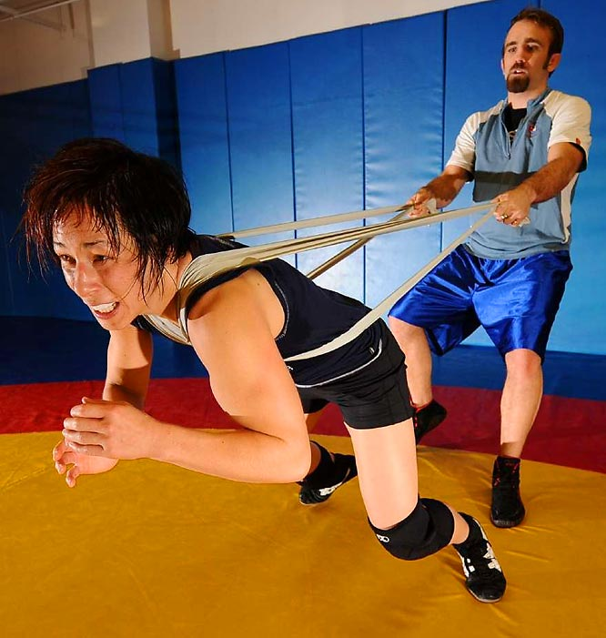 Among the nine sports housed at the OTC is wrestling -- a sport known to blow away visitors with its strict training and diet regimen at the facility.
