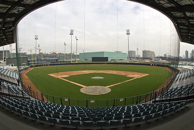 The baseball complex is already fully operational.
