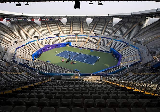 The Green Tennis Center in Beijing held a test tournament in October.
