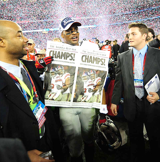 Amani Toomer and Co. delivered the Giants third Super Bowl title and became the first NFC wild-card team to win the championship.