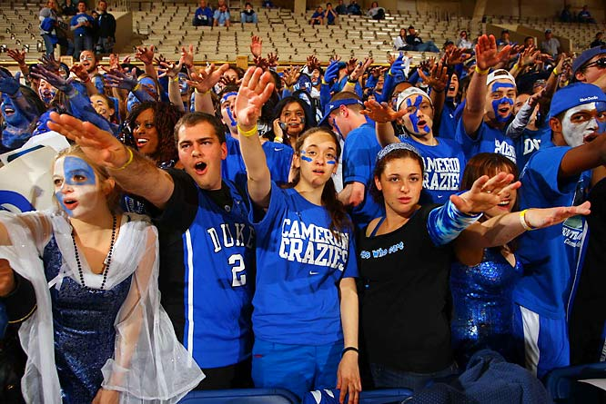 The Cameron Crazies were in full force for Saturday's ACC battle with North Carolina.