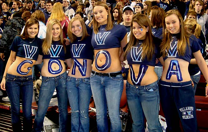 Villanova fans show their school spirit.