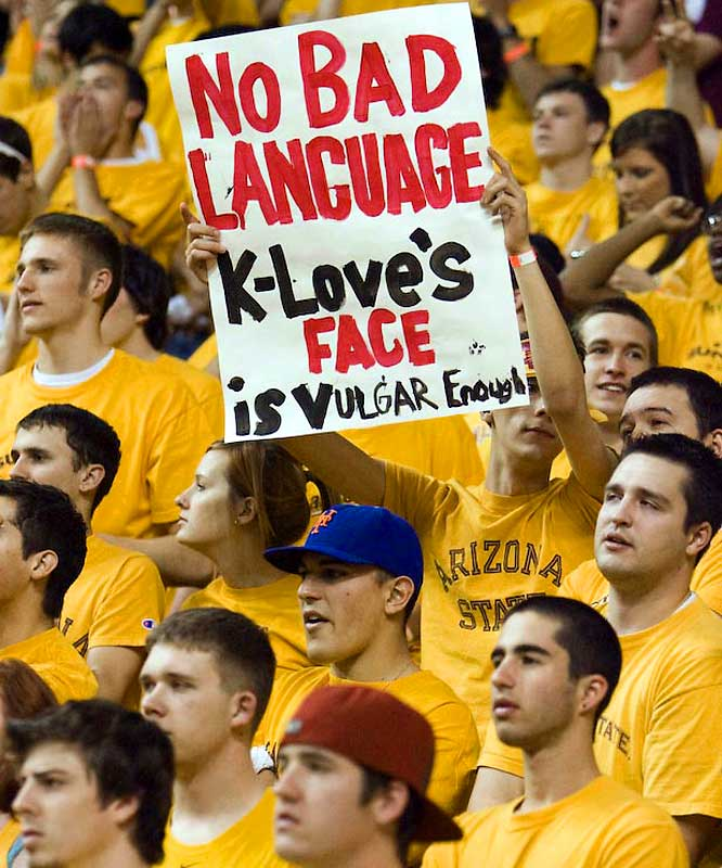 Kevin Love took some abuse from Arizona State fans when the Bruins took on the Sun Devils in Tempe last Thursday.