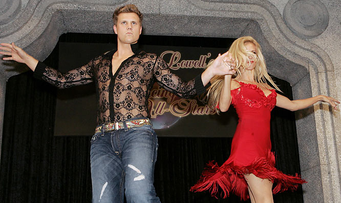 As did pitcher Jonathan Papelbon, who went with the see-through shirt instead of no shirt.