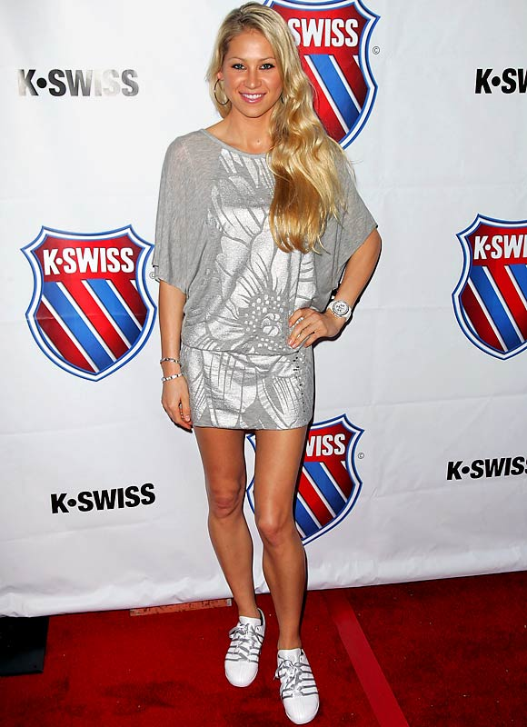 Anna Kournikova worked the red carpet Thursday at an event for a sneaker company.