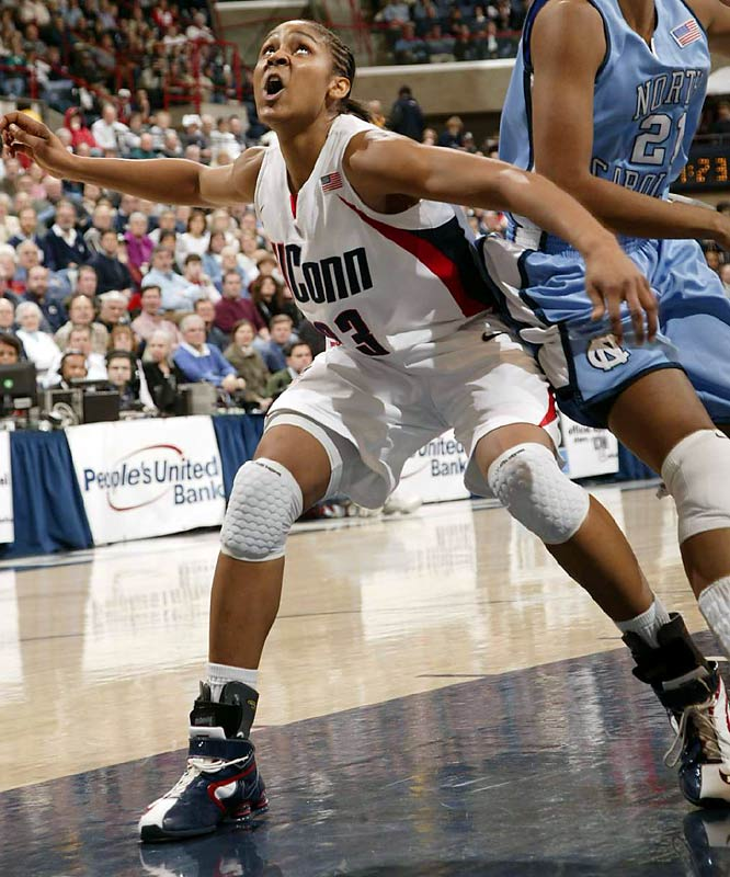 "The UConn freshman has broken almost every first-year record -- beating Rebecca Lobo for most Big East Conference freshman of the week honors, and becoming the first freshman to garner Big East player of the week honors.  When asked to describe how good Moore is, Rutgers coach C. Vivian Stringer answered, ""Best player in a decade."""