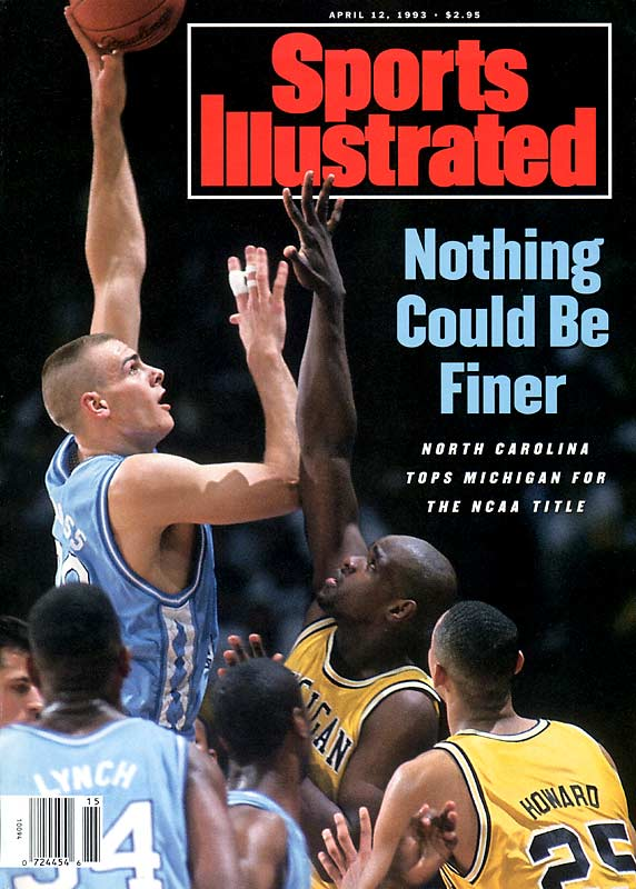 The defending national champion Blue Devils enter the Smith Center undefeated and top-ranked but the Tar Heels, led by center Eric Montross, deal them one of their two losses on the season.