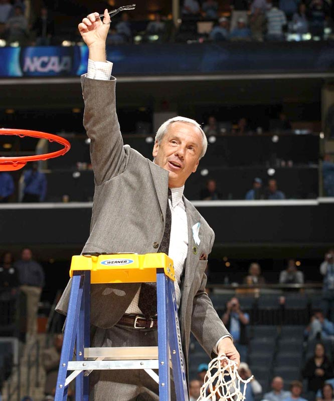 Roy Williams passed Bob Knight and moved into a tie with Kentucky's Adolph Rupp and Louisville's Denny Crum with six Final Four appearances, fourth most all-time.