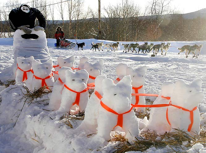 Building snowmen just wouldn't be in line with the spirit of the race.