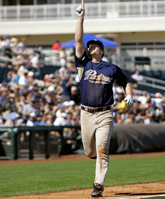 The Padres drafted Headley as a third baseman but are retraining him for the outfield and possibly will call him up this season. He posted a .437 on-base percentage in Class AA last season.