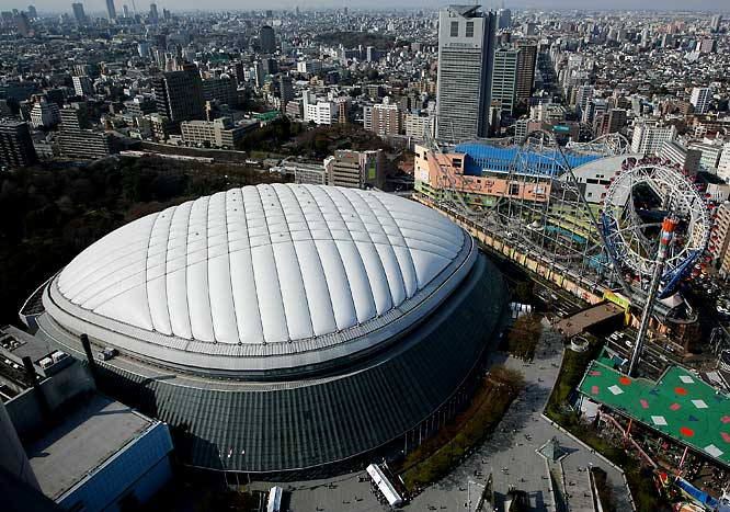 The Tokyo Dome hosted the first game of the 2008 MLB season, between Boston and Oakland.