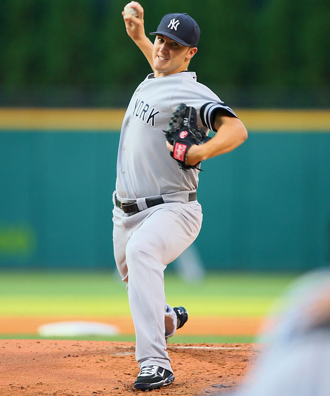 If you thought Bailey or Bonderman was big, try 6-foot-5, 200-pound Hughes. The youngest Yankee pitcher boasted 5-3 record before it was cut short by a strained hamstring last year.