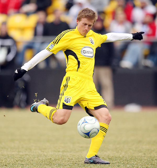 Baby-faced and blond, Carroll packs a wallop in his slight frame. Acquired from D.C. United via San Jose, he's a huge upgrade at the holding midfield position, if only for the winning mentality he brings with him to Crew Stadium.