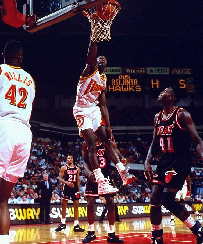 "The ""Human Highlight Reel"" Dominique Wilkins had more than his share of dunks during the Hawks unmatched 14-game winning streak."