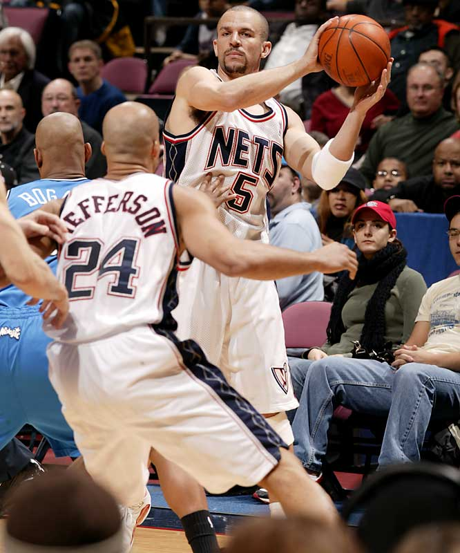 The trio of Jason Kidd, Vince Carter and Richard Jefferson helped the Nets tie a franchise record first set in the 2003-04 season, back when Kidd and Jefferson were teamed up with Kenyon Martin.