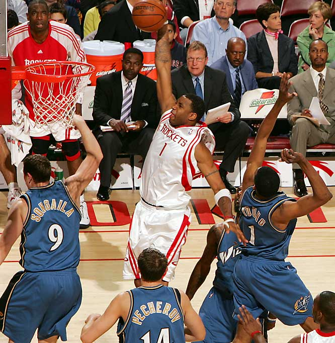 Even after losing center Yao Ming to a season-ending injury, Tracy McGrady and the Rockets continued their winning ways, running the franchise record to 22 straight wins.