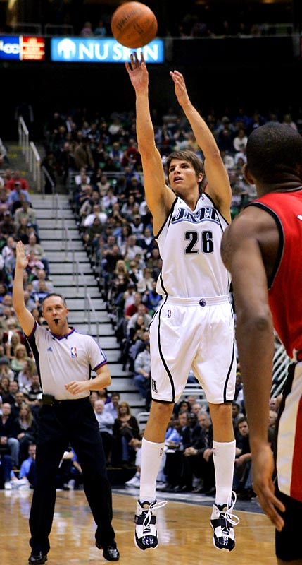 The Jazz's formidable offense has been even more potent since Korver was acquired from Philadelphia in late December. Korver owns the 76ers franchise record for three-pointers in a season (226 in 2004-05), and he holds three of the club's top-10 single-season marks for three-point accuracy.