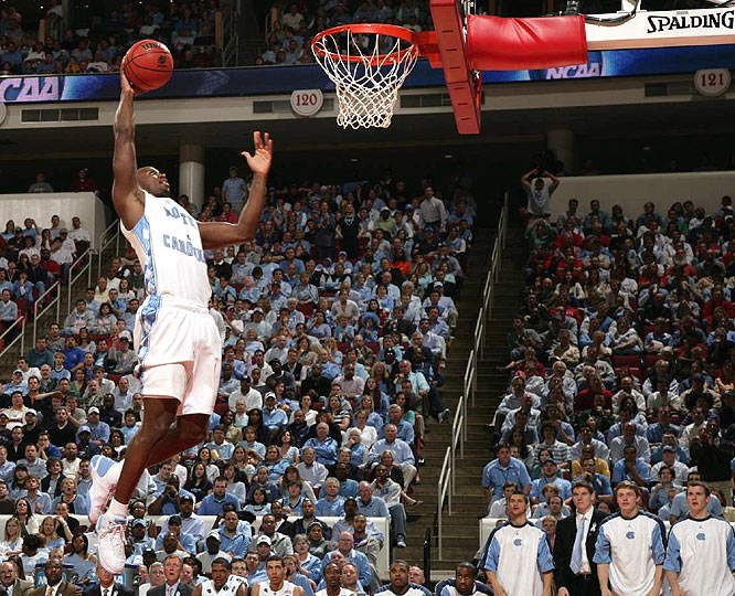 The top-seeded Tar Heels improved to 22-1 in NCAA tourney games played in their home state.