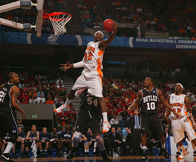 Duke Crews and the Vols needed overtime to hold off the seventh-seeded Bulldogs' rally.