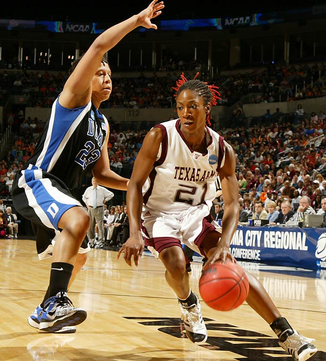 Morenike Atunrase added 13 points in the Aggies 77-63 win over Duke. The victory sent Texas A&M to its first ever Elite Eight.