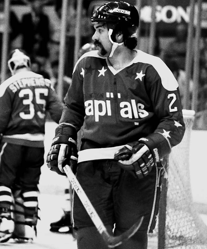 "1981-82: <i>60</i> in 80 games <br><br>The pint-sized (5' 8"", 165) and explosive center is the first Washington Capital to score 60, doing so in 1981-82. It was the follow-up to his first 50-goal season, but also the high-water mark of his career. He would not score more than 31 in any of his five remaining years in the NHL."