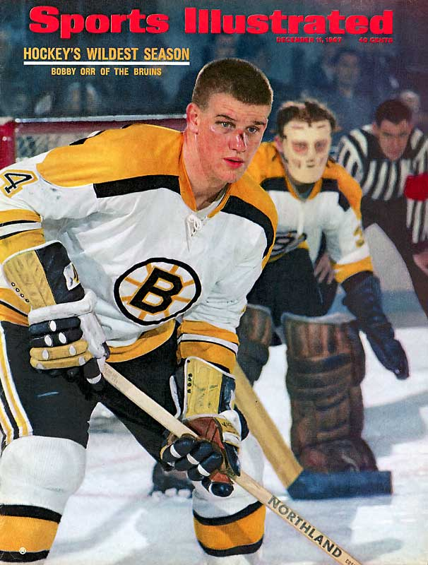 The phenom from Parry Sound, Ontario, was born on March 20, 1948. Blessed with impressive two-way skills, Orr was signed to an exclusive contract by the Boston Bruins at the tender age of 12 but league rules required that he wait until age 18 before he played in the league.