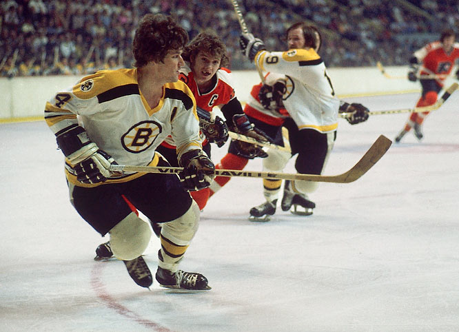 Incessant, painful knee injuries plagued Orr, who had countless operations and ended up skating on little more than bone on bone. After setting a goal-scoring record for defensemen (46, in 1974-75), his playing time and production declined dramatically.