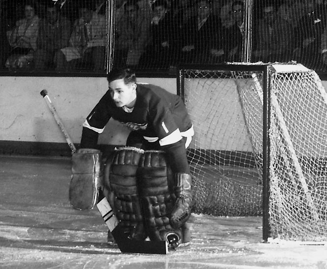 The Hall of Fame iron man played a record 502 consecutive games for the Red Wings and Blackhawks (without a mask!) from 1955 to '62, when his streak was interrupted by a back injury suffered in the first period on Nov. 7.
