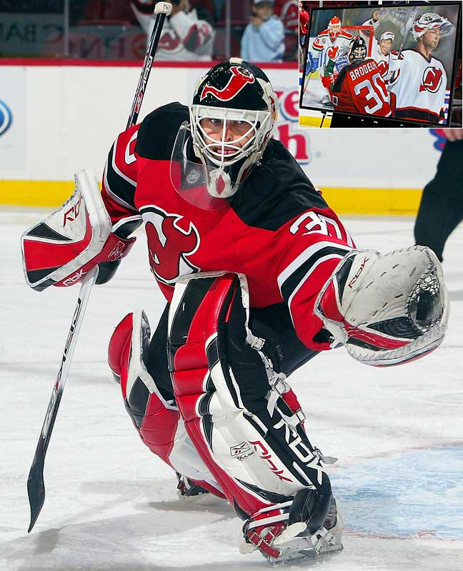 The New Jersey Devils' netminder is closing in on the career marks for victories (Patrick Roy, 551) and shutouts (Terry Sawchuk, 103). Brodeur already owns the records for at least 40 wins in a season (seven times, plus a record three in a row), consecutive 30-win campaigns (12) and victories in one season (48).