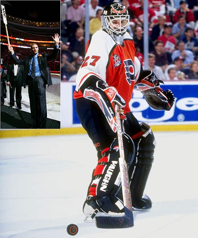The first goalie to score a goal by actually shooting the puck into the net (Dec. 8, 1987, vs. Boston while playing for the Flyers), Hextall is still the only netminder to do it twice. (His second tally came in the 1989 playoffs vs. Washington.) Brodeur also has two, but one was credited to him for being the last Devil to touch the puck before it went in.