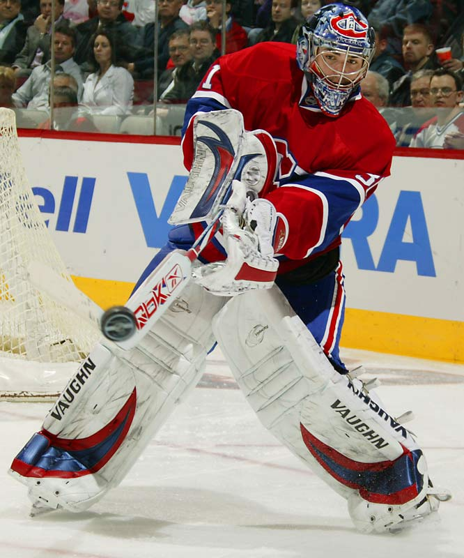 The Habs, the Eastern Conference's surprise power, raised eyebrows by entrusting their playoff future to their erratic rookie goaltender, who was drafted fifth overall in 2005 and demoted to the minors earlier this season. Since the deadline day deal that sent prior No. 1 netminder Cristobal Huet to Washington, Price was sharp while beating the Sabres and Devils (three total goals allowed), then he was eaten alive by the Sharks (six). Stay tuned.