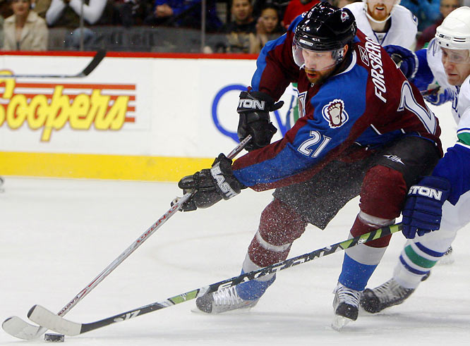 Sidelined 10 months by a chronic ankle problem, Forsberg has returned to the city of his greatest NHL glory (two Stanley Cups, 2003 Hart Trophy) and not a moment too soon. The Avs are fighting for a playoff spot without injured stars Ryan Smyth (concussion, shoulder separation) and Marek Svatos (knee). How quickly can the 34-year old Forsberg find his old magic and will it be enough?