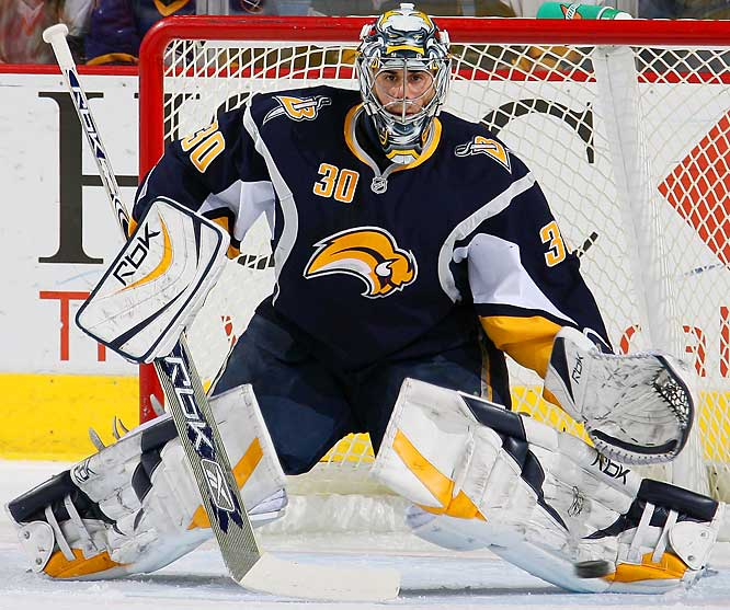 With Buffalo's backline diminished by the deadline deal that sent Brian Campbell to San Jose, the Sabres' playoff hopes rest squarely on the shoulders of their 27-year old goaltender. As if the Buffalo faithful don't have enough suspense while their team fights for the East's final berth, Miller is battling a recent slump that includes only two wins in his last six starts and a total of 21 goals allowed.