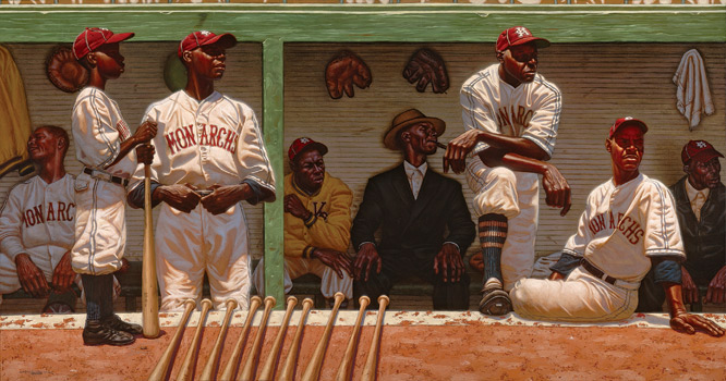 Luminous paintings by Kadir Nelson re-create the power and majesty of the Negro leagues, in a time when some of the game's greats played in undeserved obscurity -- but with undiminished passion