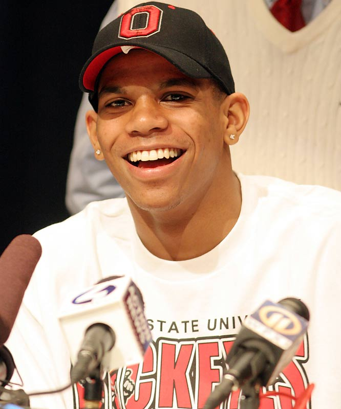 `'If everyone's here ..... University of Ohio State.''<br><br> -- Terrelle Pryor, the highly touted western Pennsylvania prep quarterback, in announcing his college choice on March 19.