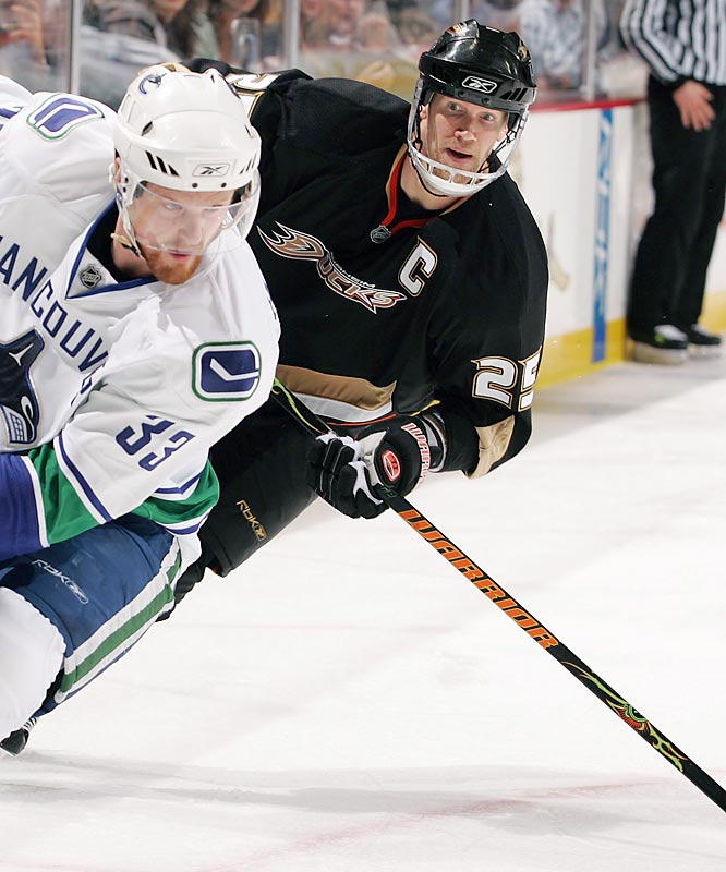 ''First, I apologize to Ryan Kesler. Second, to the Vancouver Canucks organization. Third, to the Anaheim Ducks organization, the league and the fans.''<br><br>--Chris Pronger after receiving the longest suspension in his career, eight games without pay for stomping on Kesler's leg.
