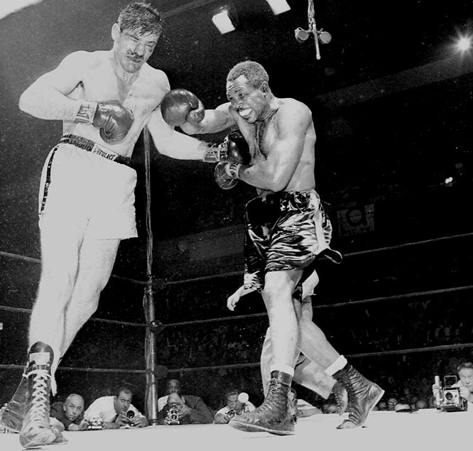 He turned pro in 1938, retired in 1963, and held the light heavyweight title for seven years during the 1950s and again in 1961. His record for knockouts (145) still stands today.