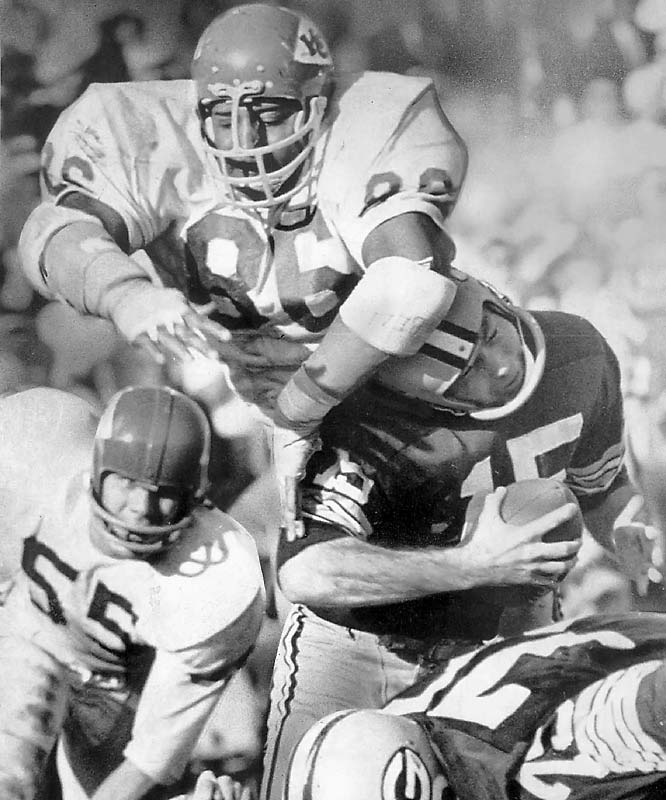 Following a decorated collegiate career under Eddie Robinson at Grambling State, the 6-foot-7, 287-pound defensive lineman astonished pro football fans with his durability over a 13-year career with the Chiefs. Buchanan played 182 games including 166 in a row -- no small feat given the brutal nature of life in the NFL trenches.